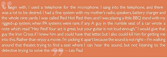 Les Paul quote