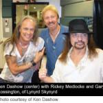 Ken Dashow, Rickey Medlocke and Gary Rossington of Lynyrd Skynyrd