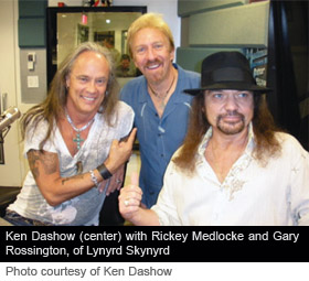 Ken Dashow, Rickey Medlocke and Gary Rossington of Lynyrd Skynyrd