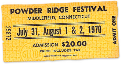 Powder Ridge Festival Ticket