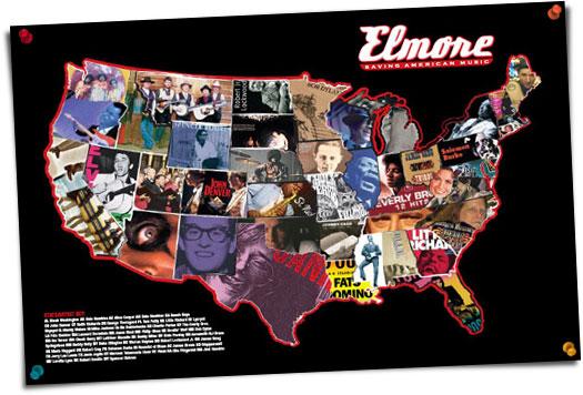 Elmore's 48 Rockin' States Poster