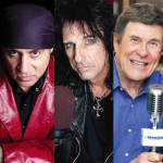 You can't see them, but they're everywhere - Three stars behind radio: Little Steven Van Zandt, Alice Cooper and Cousin Bruce Morrow