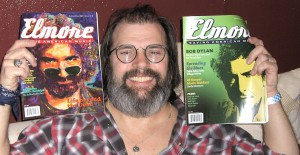 Steve Earle with his favorite magazine