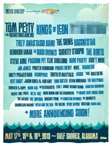 Hangout Music Fest lineup Tom Petty Kings of Leon