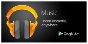 Google Play Music streaming app