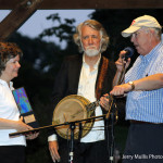John McEuen accepting the Charlie Poole Festival Organization's Lifetime Achievement award.