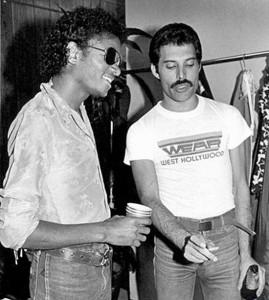 Michael Jackson & Freddie Mercury (circa 1980)