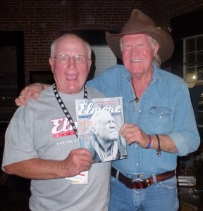Scott Peavler (l) with Billy Joe Shaver and Scott's cover story on country music outlaws.