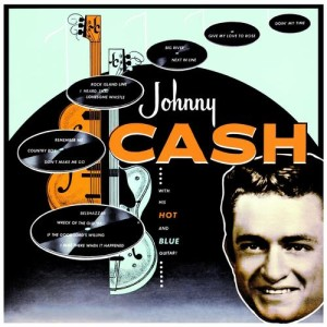 Johnny Cash's firt album, With His Hot and Blue Guitar, released in 1955, was the first of 96 studio albums.