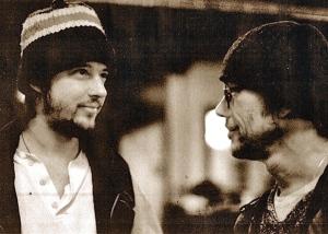 Phil Cody (left) with Warren Zevon in the 90's.