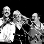 Peter, Paul and Mary, from left: Noel Paul Stookey, Mary Travers, Peter Yarrow; Photo by Robert Corwin
