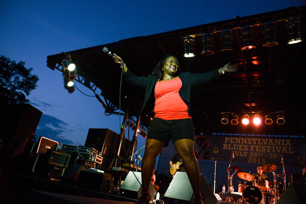 Shemekia Copeland at the Pennsylvania Blues Festival, Photo by Laura Carbone