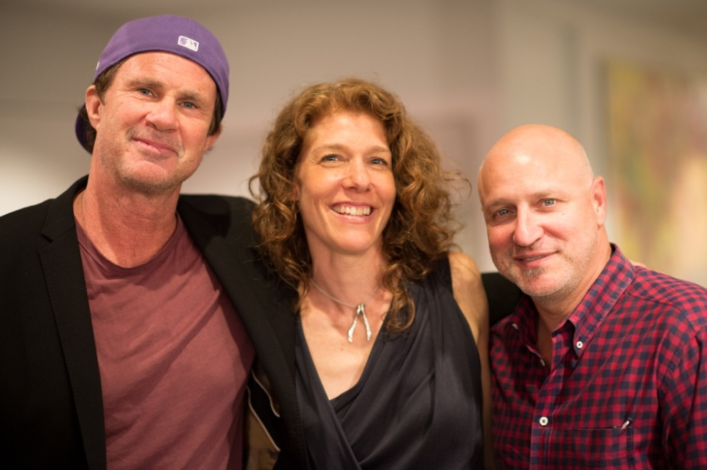 Rebecca Weller with Guitar Mash Co-Chairs Chad Smith and Tom Colicchio