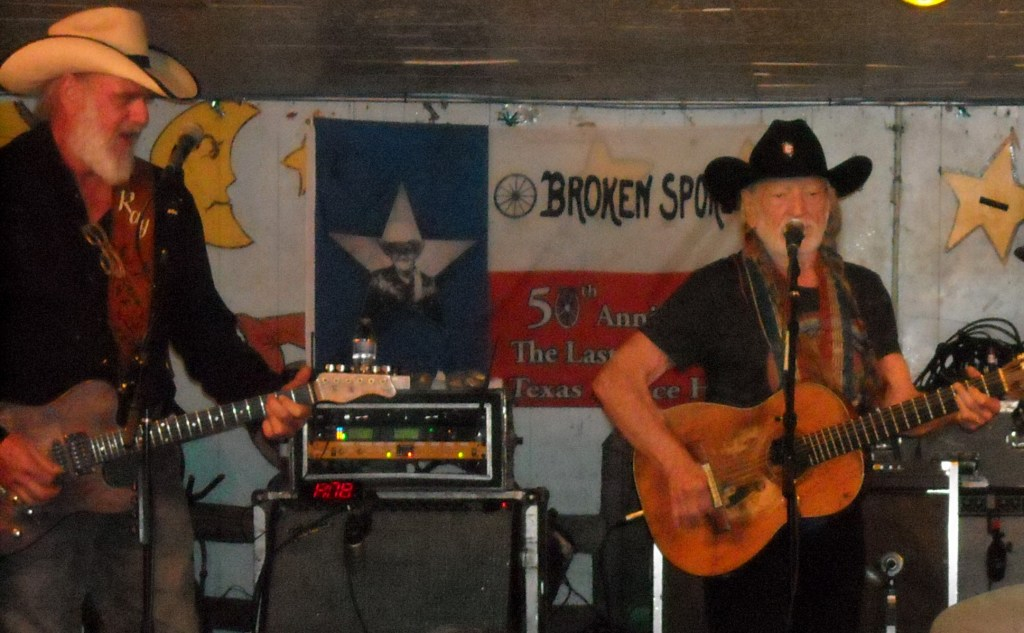 Ray Benson and Willie Nelson at the Broken Spoke by Donna Marie Miller