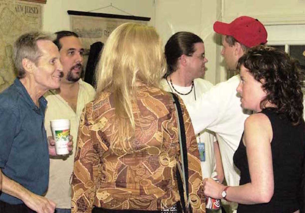 Levon Helm, Matt Angus, Amy Helm at the Black Potatoe Fest in 2002