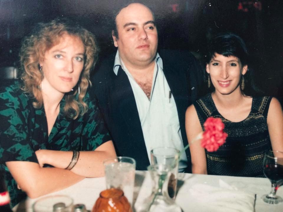 Sarah Brown (Left), Clifford Antone (Center) and West (Right) in 1989
