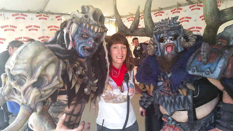 West with members of GWAR at Riot Fest Denver 2015