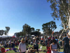 A view of the crowd gathered before the Baker Electric Solar Stage