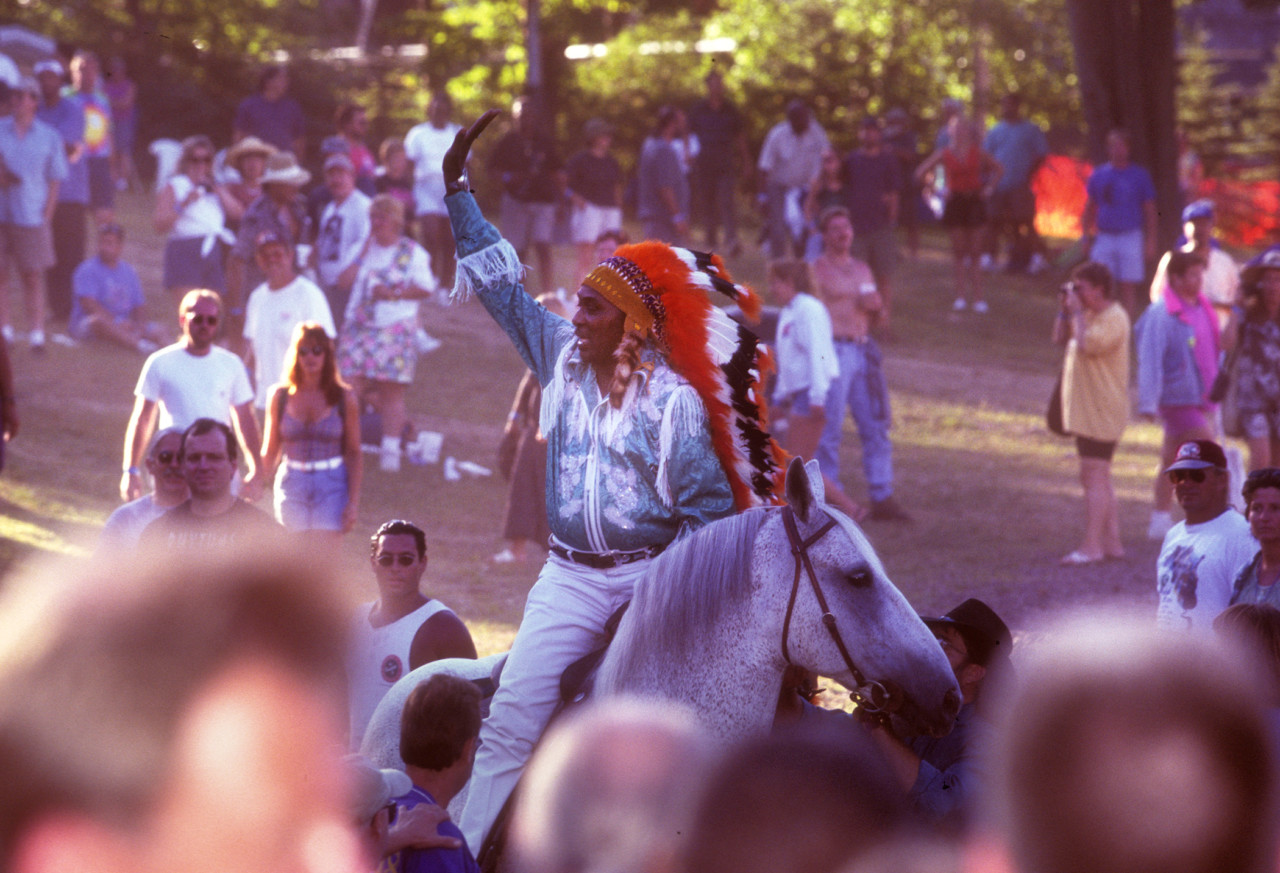 Eddie Clearwater at the Pocono Blues Festival, 1998