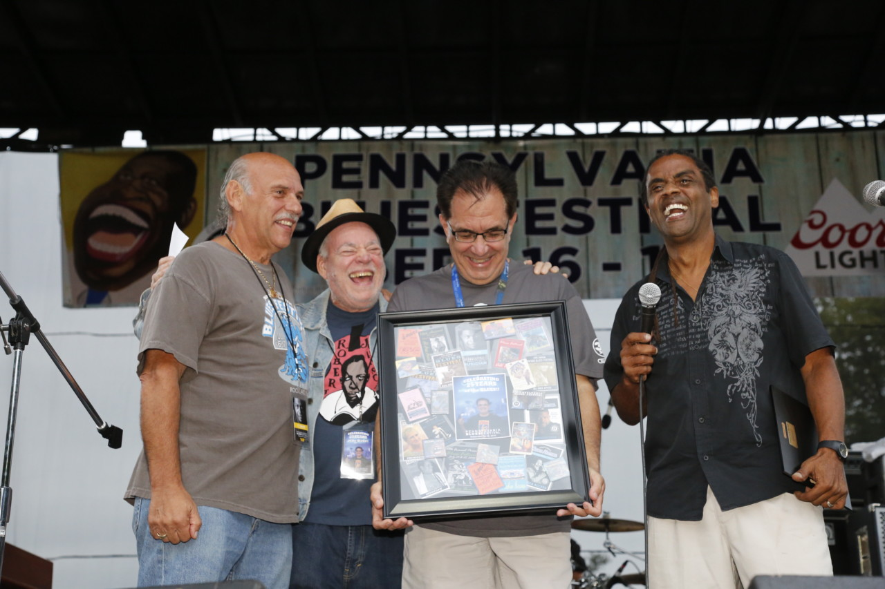 Michael Cloeren, third from left, at the PA Blues Festival