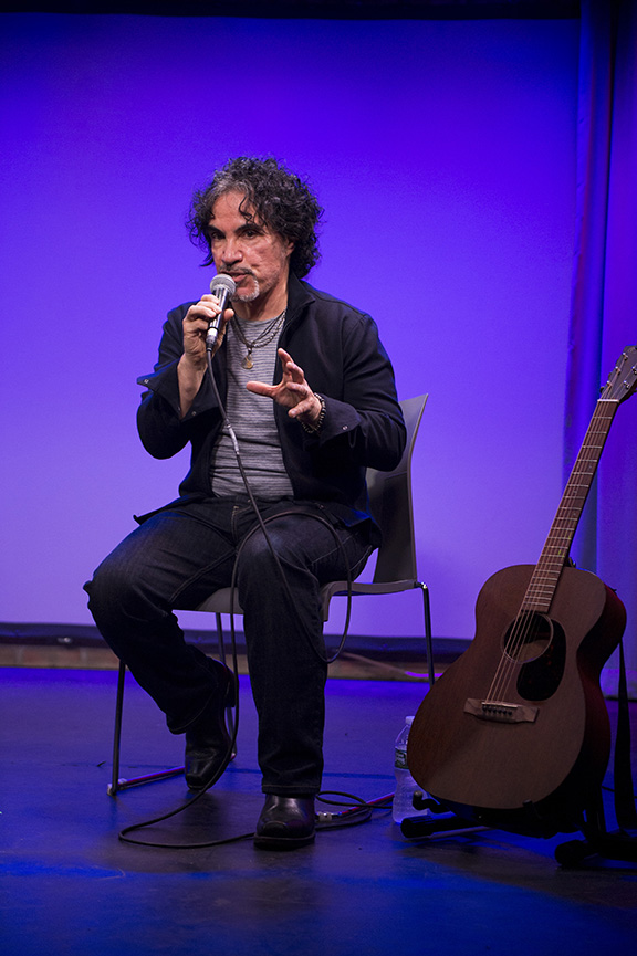 John Oates talks about his new memoir called 'Change of Seasons' at Subculture in New York City on March 28, 2017.